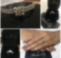 Anel de Noivado Diamantes Anelar Ely.jpe