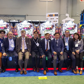Andamiro stages biggest ever IAAPA exhibit; Jurassic World and Ticket Man draw crowds of showgoers