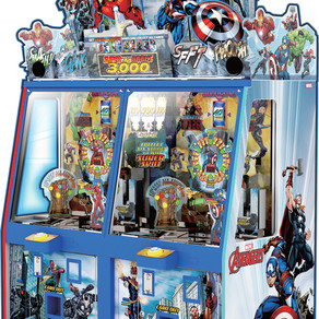 Andamiro readies trials for Marvel's Avengers; new arcade coin pusher ships with player shields