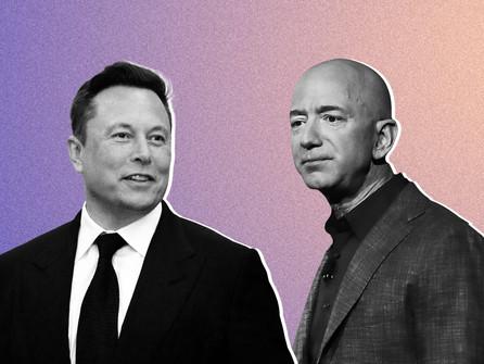 $TSLA surges past $800 a share since Elon Musk ratio'd Jeff Bezos on Twitter