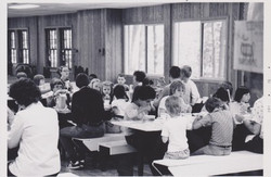 Campers Inside the Dining Hall, 1976