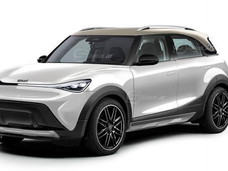 La nuova Smart cambia pelle e diventa un SUV elettrico compatto: il rendering di Showcar