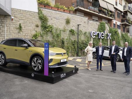 Volkswagen e Enel X: una joint venture per installare 3.000 punti di ricarica ultra-rapida in Italia
