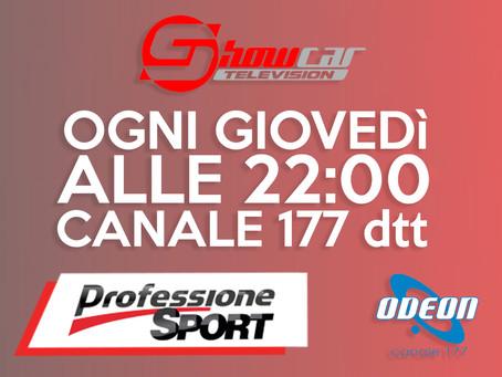ShowcarTV in onda anche su ODEON TV - Professione Sport in tutta Italia