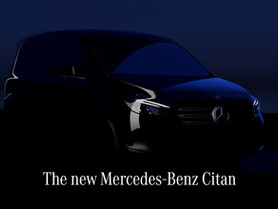 Mercedes Citan 2021: primo teaser del nuovo van compatto (anche elettrico)
