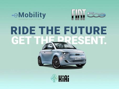 Fiat 500 elettrica: con Kiri ti premia se guidi eco-friendly