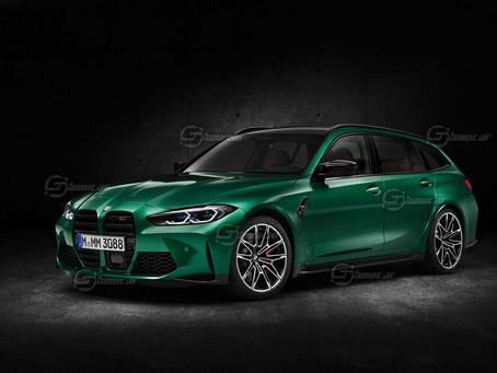 BMW M3 Touring: la wagon sportiva arriva nel 2022 | Il rendering di Showcar
