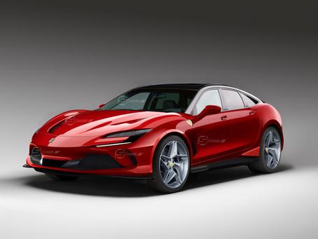 Ferrari Purosangue 2022: il Rendering del primo SUV di Maranello