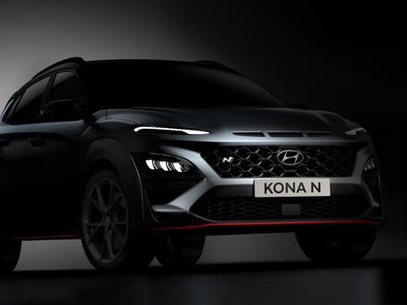 Hyundai Kona N: primi teaser del SUV compatto sportivo