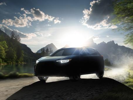 Subaru Solterra: primo teaser del SUV elettrico sviluppato con Toyota