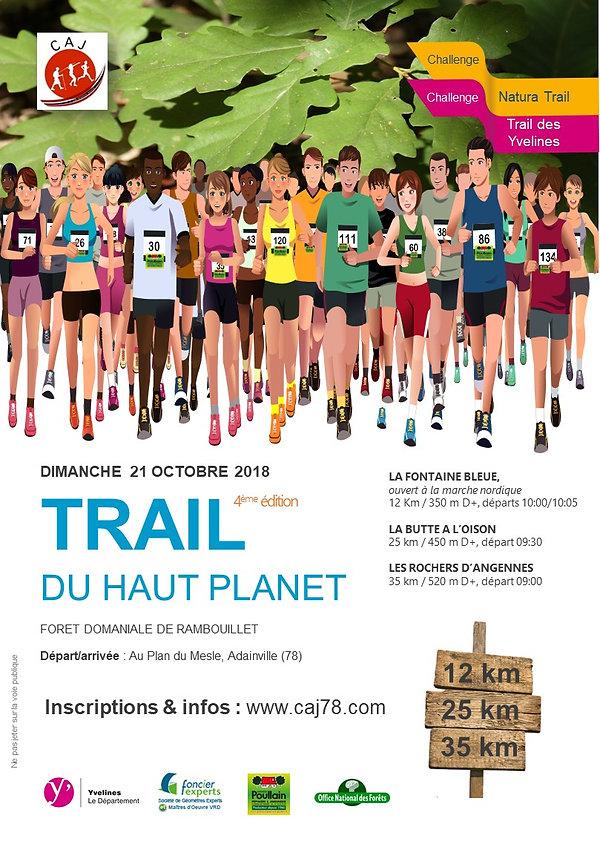 Affiche A4 trail du haut planet 2018 V00