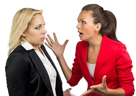 Leadership coaching helps prevent office arguments.