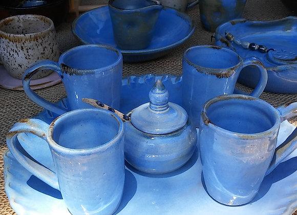 Conjunto Blue Café com açucareio