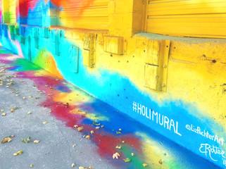 Holi Mural for Distillery America