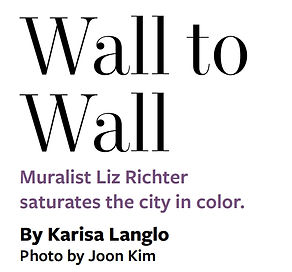 Wall to wall Muralist Liz Richter Article