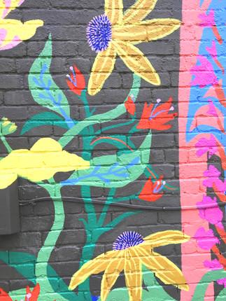 #NuluWildflower Mural, detail