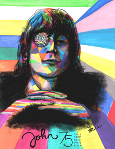 John Lennon poster for Abbey Road on the River, 2015.