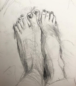 Feet in repose