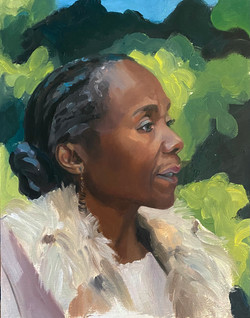 Portrait of the artist Yeside Linney