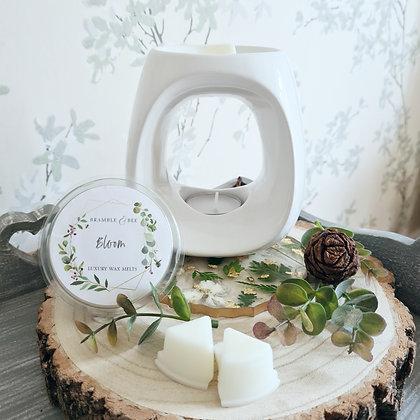 White Wax Melt Burner - Orchid