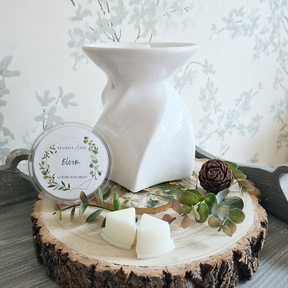 White Wax Melt Burner - Lily