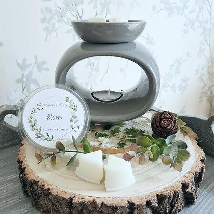 Grey Wax Melt Warmer - Rose