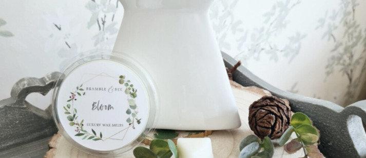 White Wax Melt Burner -Snowdrop