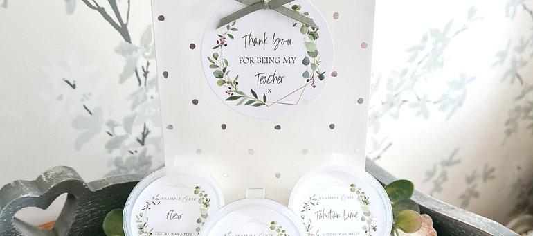 Teacher Wax Melt Gift Bag