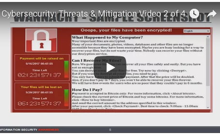 Cybersecurity: Threats & Mitigation Video 2 of 4