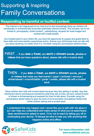 Responding to harmful and hurtful conten