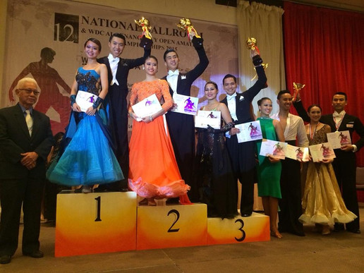 Champions at the 12th National Ballroom Championship in Penang