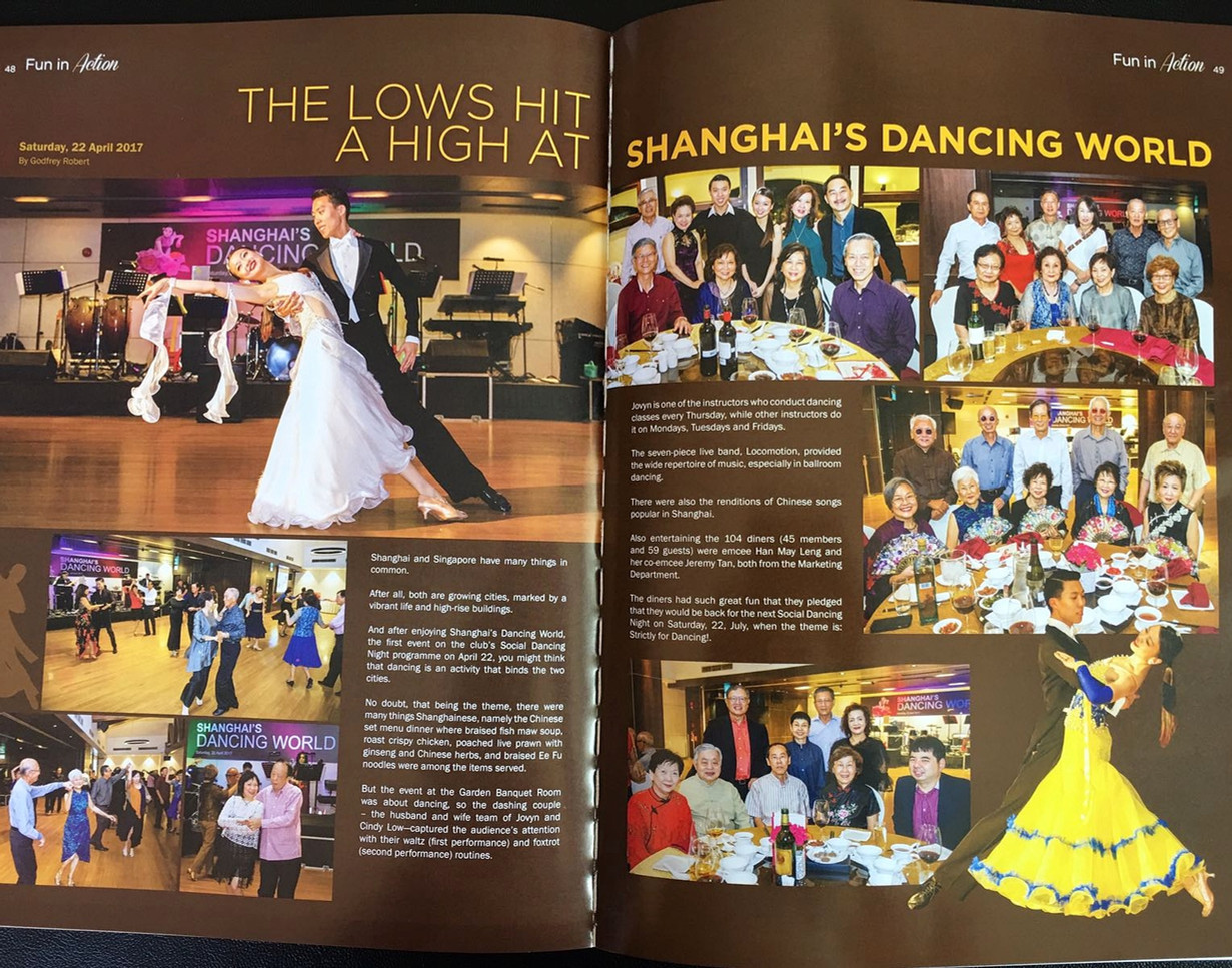 Featured on the magazine of Tanah Merah Country Club