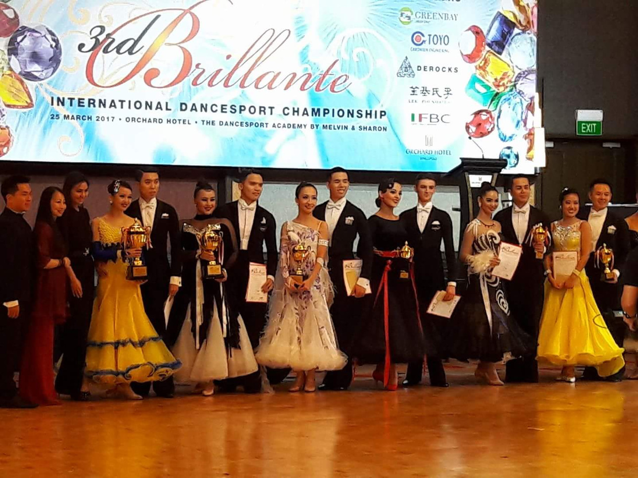 Champions at the 3rd Brillante International Championship