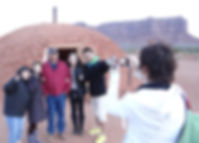 Navajo Guide with Japanese Visitors