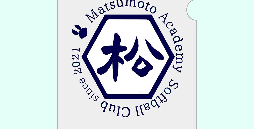 松本学園ソフト部|A5クリアファイル【校章ロゴ】