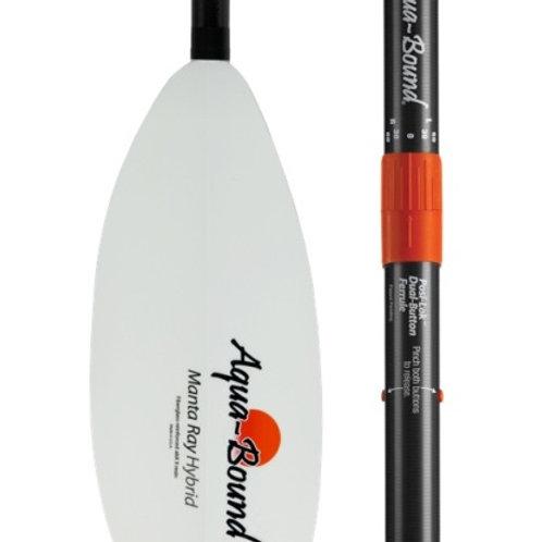 Paddle - MantaRay Hybrid White FG Blade/Posi-Lok Carbon Shaft 2pc 240