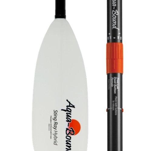 Paddle - StingRay Hybrid White FG Blade/Posi-Lok Carbon Shaft 2pc 220