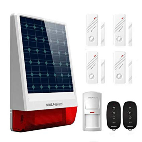 Wolf Guard Solar Alarm System with Sensors and Fobs