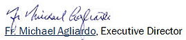 Signature & text - Fr. Michael Agliardo.