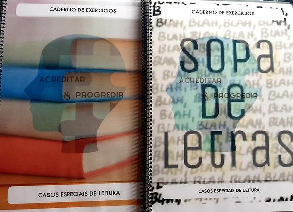 Caderno de Exercícios: Casos Especiais Leitura (Sopa de Letras)+ Ortografia