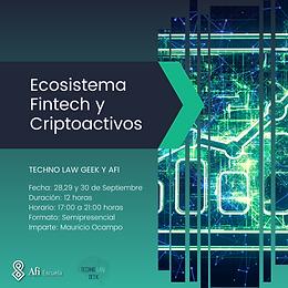 Ecosistema Fintech y Criptoactivos