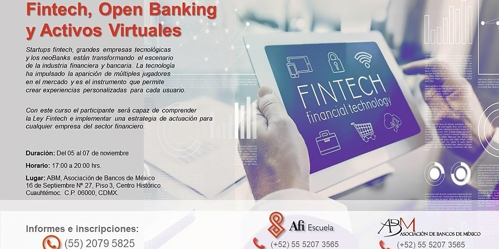 Fintech, Open Banking y Activos Virtuales
