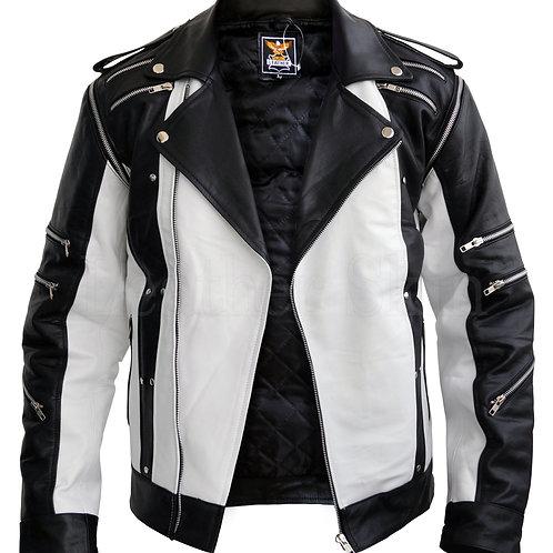 Michael Jackson White Leather Jacket