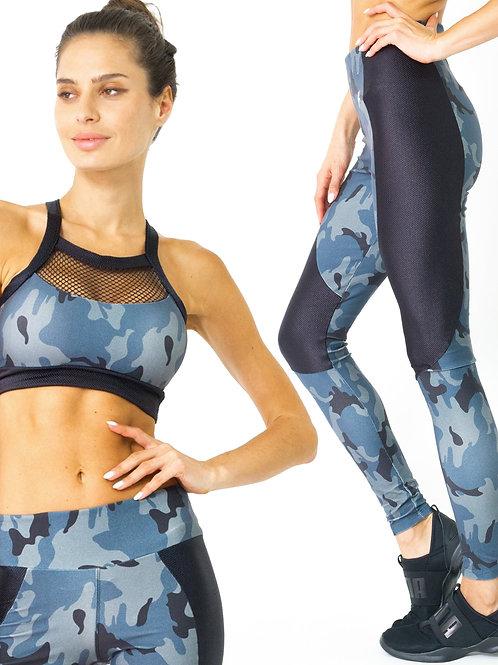 Veloso Supplex Moisture-Resistant Fashion Leggings & Sports Bra Set