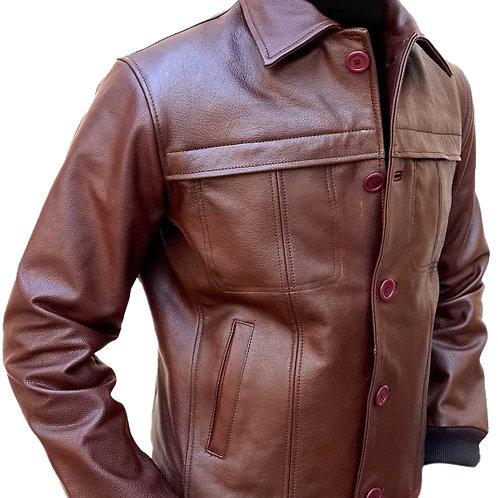 Men Brown Classic Biker Leather Jacket