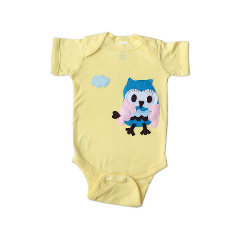 Baby Onesie - 3D Flying Owl