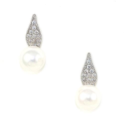 Pearl Petal Earrings