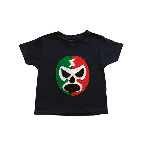Kids T-Shirt - Luchador Rojo  Toddler T-Shirt - Navy/Red/Green