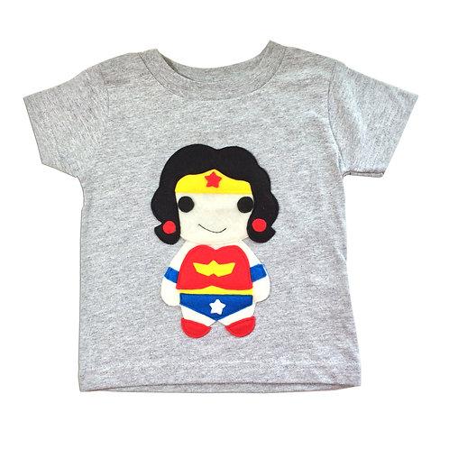 Kids Superhero Shirt - Wonder Girl