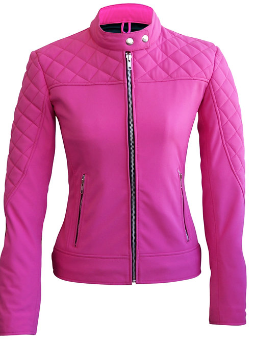 Women Pink SoftShell Jacket